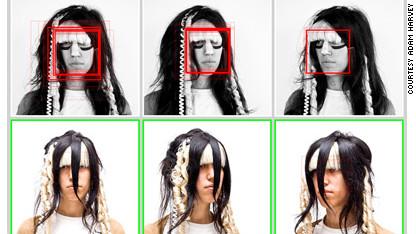 Face detection prevention fashion.