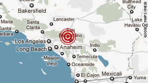 The epicenter of the quake was just outside Devore, in San Bernardino County near the San Andreas Fault.
