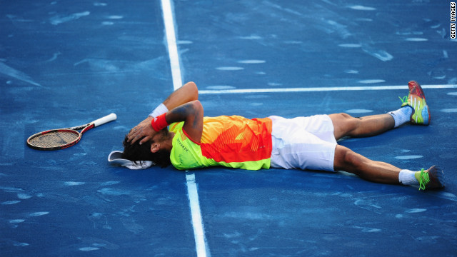 Rafael Nadal tastes defeat for the first time in 22 matches at the Madrid Open.
