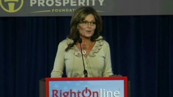 No mention of Romney as Palin serves up anti-Obama red ...