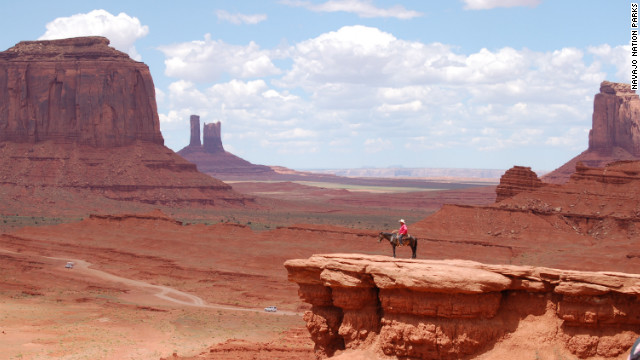 Monument Valley's scenic drive takes in Mitten Buttes, Merrick Buttes and other iconic formations. Navajo guides (compulsory if you want to get off the road) can take you into some of the park's 92,000 acres.