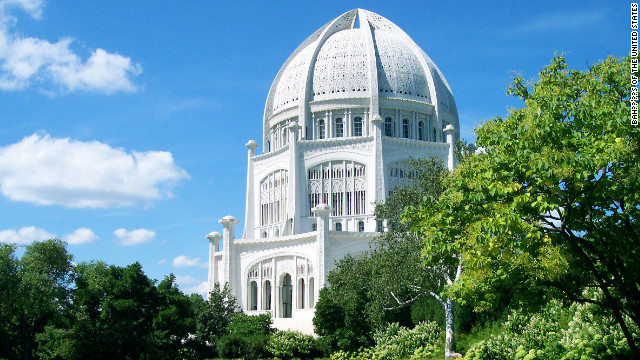 This Bahá'í House of Worship, one of just seven Bahá'í temples in the world, is located 30 minutes north of Chicago.