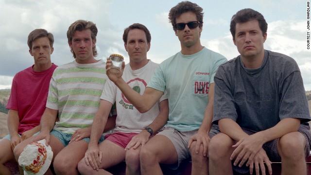From left to right: John Wardlaw, Mark Rumer, Dallas Burney, John Molony and John Dickson in 1992.