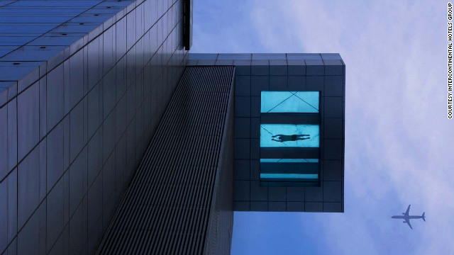 Is this a bird? Is this a plane? No, it's a daredevil swimmer.