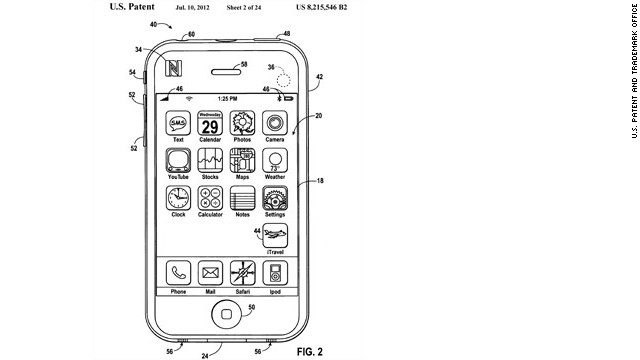 "Apple's vision for its app, according to U.S. Patent and Trademark Office, shows an icon in the screen's lower right labled ""iTravel.""<br/><br/>Apple is releasing a mobile wallet app called Passbook which could lead to some of the ideas suggested in these iTravel patent schematics, which were submitted in 2008. The patent was granted last July.<br/><br/>""Empty pocket"" travel apps would eliminate the need to carry credit cards, airline tickets, boarding passes, baggage claim stubs, car or hotel reservations, or even personal identification. Click through the gallery to see more."