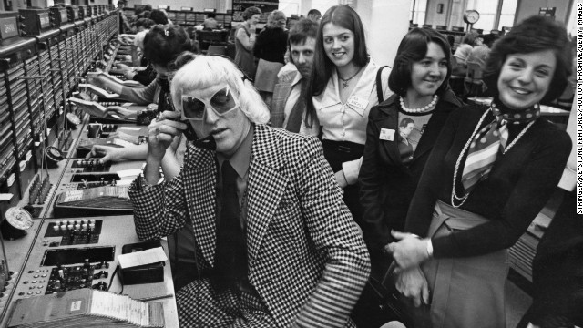 Savile calls from the Wren House International Telephone Exchange in London in 1975 as part of a
