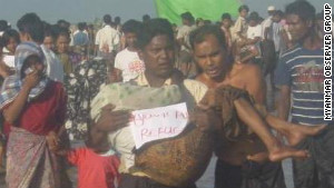 People have been displaced across Rahkine state in western Myanmar.