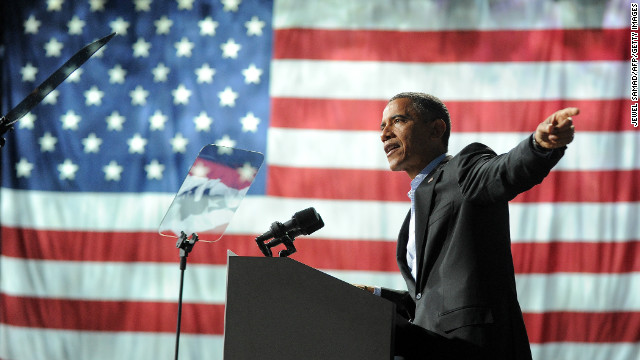 President Obama at a campaign rally in Columbus, Ohio, on November 5.