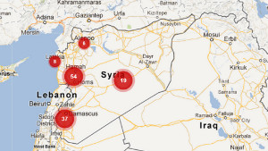 Women Under Siege posts an interactive map of reports of rapes. https://womenundersiegesyria.crowdmap.com/.