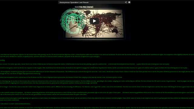 Anonymous declara la ciber guerra al Gobierno de EEUU