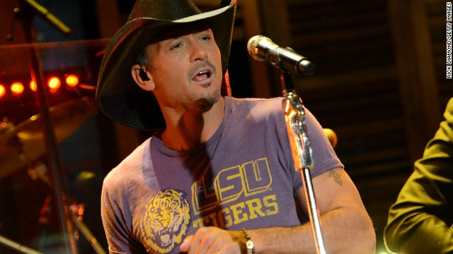 Country star Tim McGraw<a href='http://www.people.com/people/article/0,,20669193,00.html' target='_blank'> said in an interview in 2013</a> that he replaced drinking whiskey with working out to clean his life up.