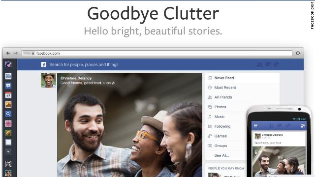 Facebook lanza un nuevo rediseño