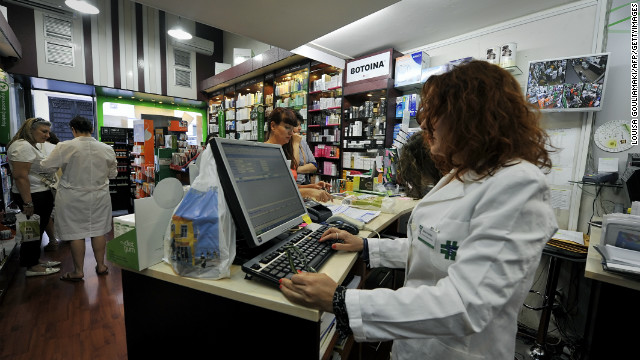 The Greek health ministry is under pressure to cut social funding covering the cost of most drugs.