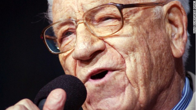George Beverly Shea sings