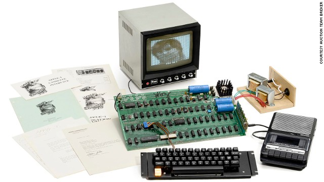 A rare Apple 1 computer was auctioned in Cologne, Germany, for $671,000 to an anonymous buyer in the Far East.