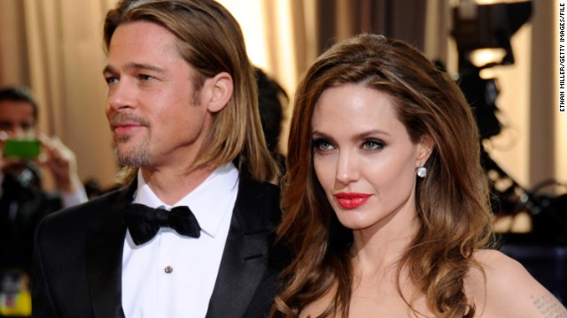 The lives of Brad Pitt and Angelina Jolie, both on and off the big screen, make headlines around the world. A representative for Angelina Jolie confirms the couple were married Saturday in France in a small, private ceremony. The couple have six children together and have been together for nine years. They announced their engagement in 2012. Pictured here, Pitt and Jolie arrive at the Academy Awards in February 2012 in Hollywood.