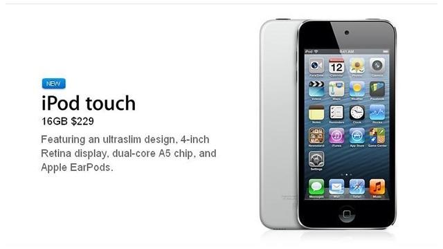 Apple lanza un nuevo iPod Touch, más ligero y económico