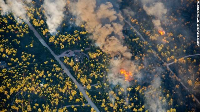 A house burns near Colorado Springs on June 11.