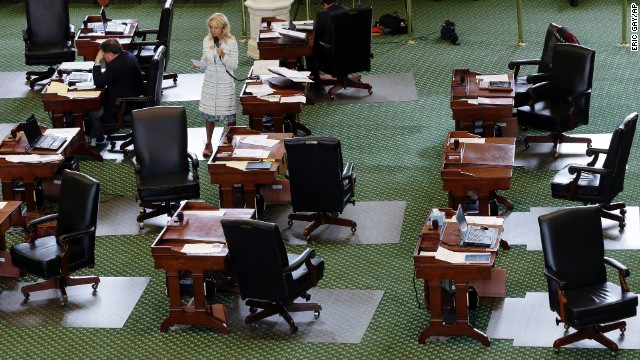 Davis filibuster took place in an near empty Senate floor. The bill she was fighting would have banned abortion after 20 weeks of pregnancy and force many clinics to upgrade their facilities and be classified as ambulatory surgical centers.