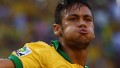 Neymar of Brazil celebrates scoring the opening goal during the FIFA Confederations Cup Brazil 2013 Group A match between Brazil and Mexico at Castelao on June 19, 2013 in Fortaleza, Brazil.