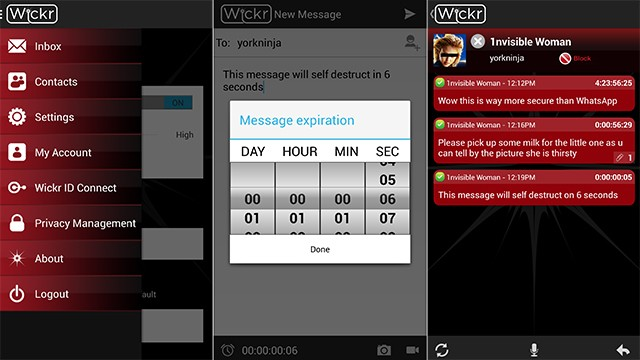 The Wickr self-destructing messaging app is coming to Android phones Monday.