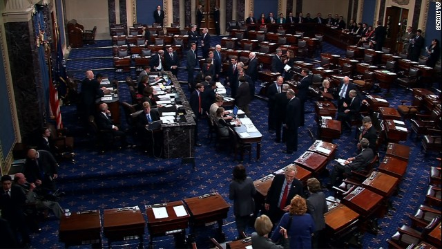 An all-night session had been a possibility because of an ugly standoff over presidential nominations and filibusters.