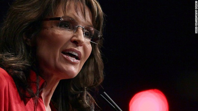 "In the middle of the Republican presidential primaries in February 2012, Sarah Palin tells the Conservative Political Action Conference that the party needs a candidate who ""can instinctively turn right,"" a dig at eventual GOP nominee Mitt Romney."