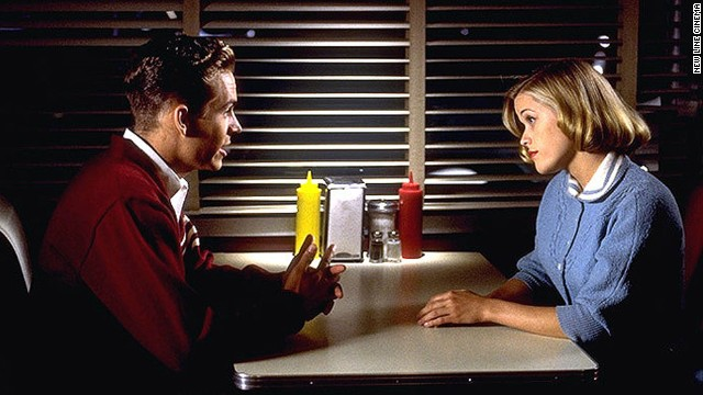 """Walker and Reese Witherspoon in a scene from the film """"Pleasantville."""""""