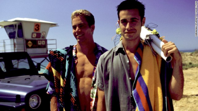 "Walker (l.) and Freddie Prinze Jr. costar in the popular film ""She's All That."""