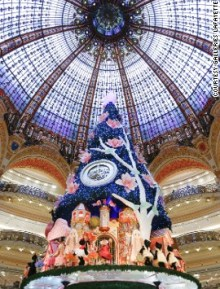Árbol de Navidad de Galerías Lafayette, París
