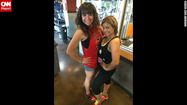 May 2014: Tarver kept taking classes with Salas, who pushed her to get her Zumba instructor license and is now a close friend.