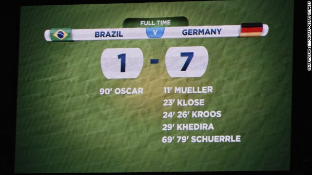 The stadium's scoreboard after the match.