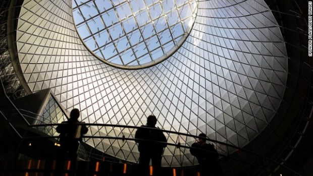 Newly opened Fulton Transit Center train station in lower Manhattan isn't for creatures of the dark -- at least during daylight hours.
