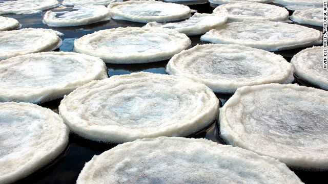 It's the first time the ice pancakes have occurred on the Dee, but they're thought to be more common in Antarctica or the Baltic Sea.