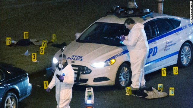 Photos: Two NYPD officers fatally shot