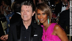 David Bowie and supermodel Iman in 2011.