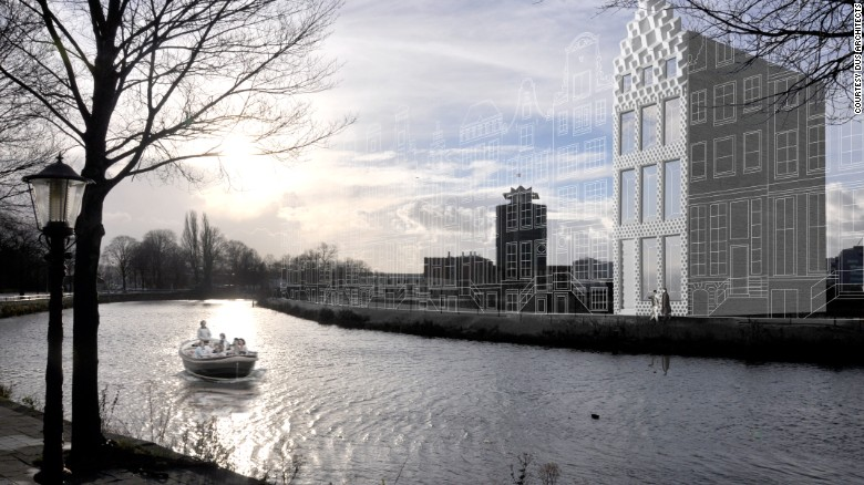 An artists impression of the DUS Architects 3D printed house.