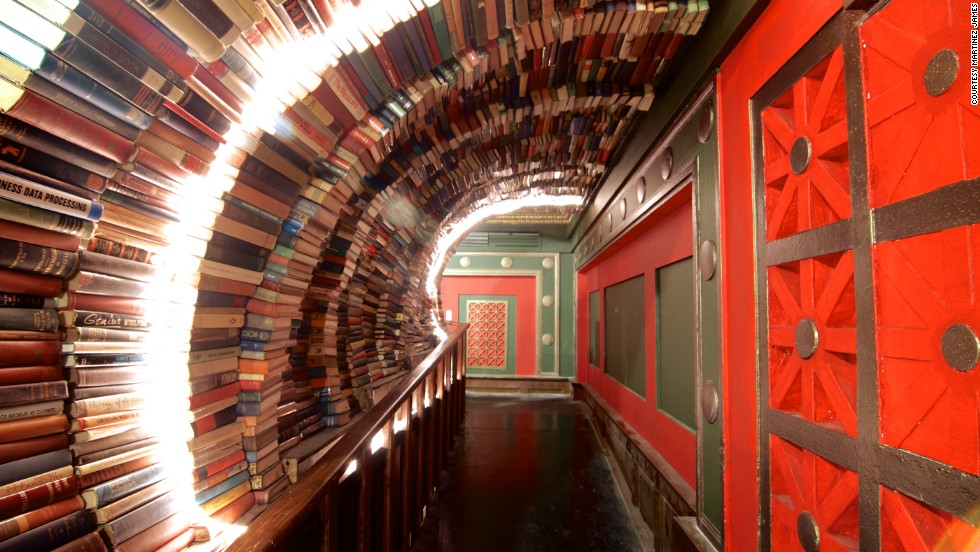 The stylish Last Bookstore in Los Angeles served as the backdrop for a fashion shoot in a recent issue of