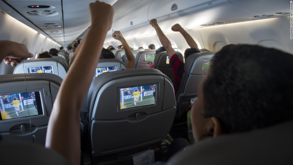 Brazilian football fans watched their team play live on Azul during the FIFA 2014 World Cup. It's one of the airlines that TripAdvisor users score best for in-flight entertainment.