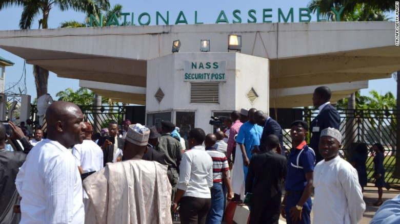 Entrance to the National Assembly, home to Nigeria's parliament (file photo).