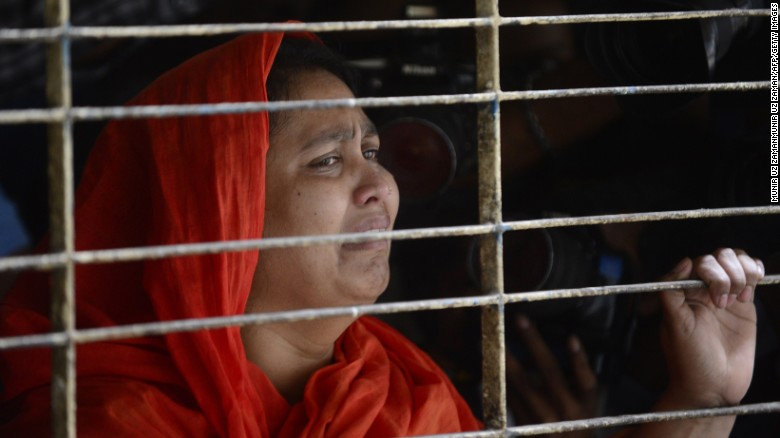 A relative of dead Bangladeshi blogger Washiqur Rahman reacts after seeing his body at Dhaka Medical College on March 30, 2015.