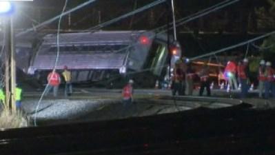 'Violent scene' near Amtrak train crash site