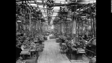 """Meanwhile, Ford had built the world's largest factory, the River Rouge plant. The complex allowed <a href=""""https://books.google.com/books?id=LIDyU91YMHAC&pg=PA283&lpg=PA283&dq=the+raw+materials+coming+in+on+one+end+of+the+Rouge+plant+and+the+finished+cars+going+out+the+other+end&source=bl&ots=PMwDi1viBH&sig=_B74SwBx3IQ8AEYsyee3TX2R_wg&hl=en&sa=X&ved=0CCYQ6AEwAWoVChMIpZGchMXixgIVSamACh3CCQkx#v=onepage&q=the%20raw%20materials%20coming%20in%20on%20one%20end%20of%20the%20Rouge%20plant%20and%20the%20finished%20cars%20going%20out%20the%20other%20end&f=false"""" target=""""_blank"""">Ford to realize his vision</a> of seeing """"the raw materials coming in on one end of the Rouge plant and the finished cars going out the other end."""""""