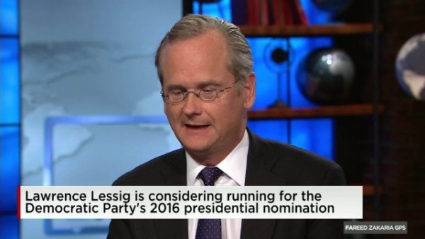 Gemist: Lessig on how to fix the American election systems