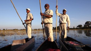 The Okavango Delta from a dugout canoe