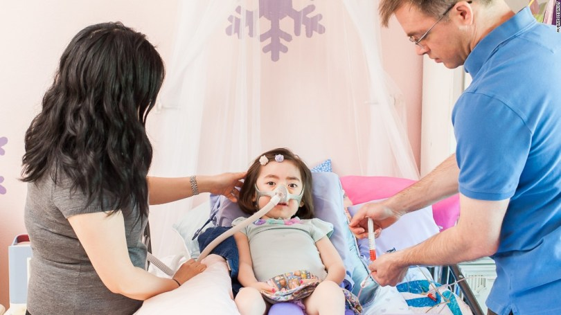 At one point, Julianna ate food. In the last months of her life, her chewing and swallowing muscles were so weak, she ate through a tube in her stomach.
