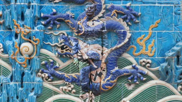 This photo is one of nine in his Dragon series. The dragon is a symbol of power, strength and good luck in China. <br />