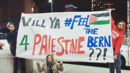 sanders palestine