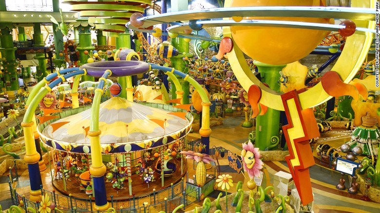 At 12,360 square meters spread across three levels -- including a Fantasy Garden and Galaxy Station -- Berjaya Times Square is the country's largest indoor theme park.