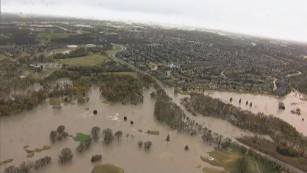 Flooding near Garland, Texas.